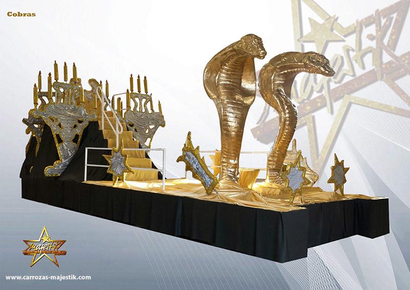 carroza cobras doradas