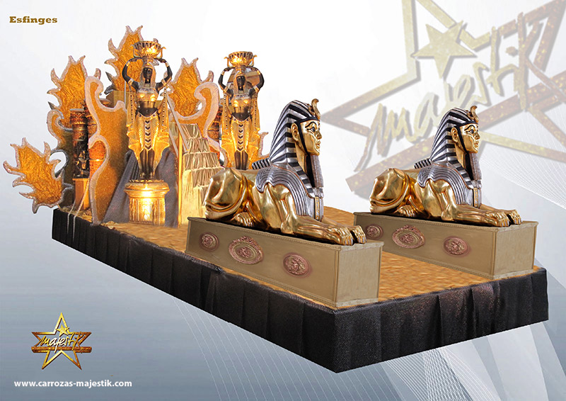 Carroza esfinges egipcios