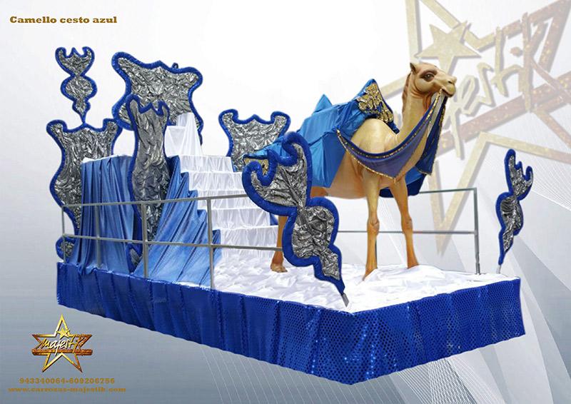 carroza camello cesto azul