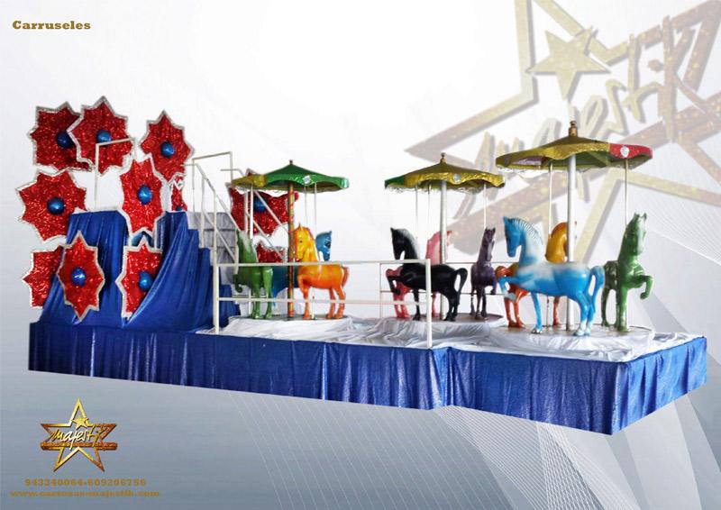 carroza infantil con carrousel