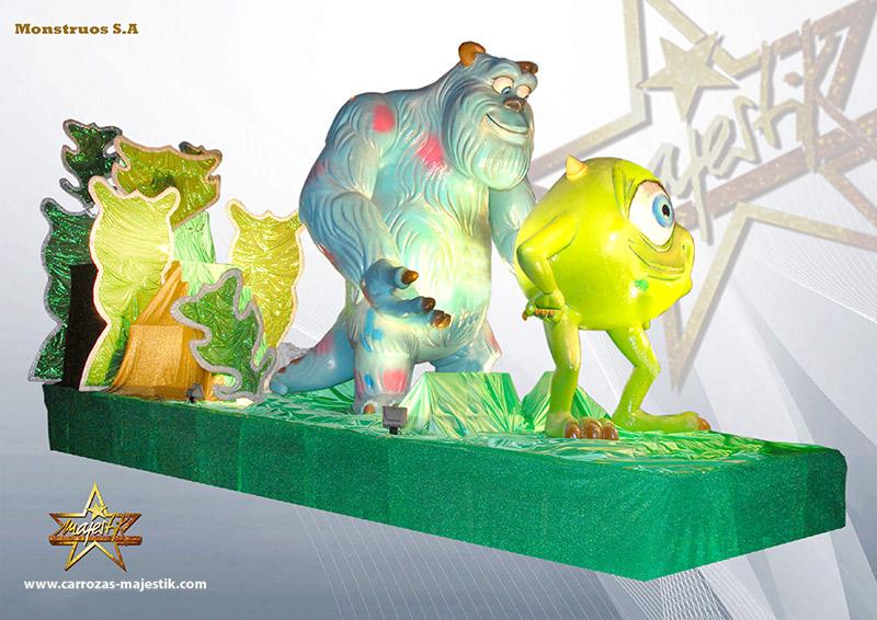 Carroza Disney Monstruos S.A