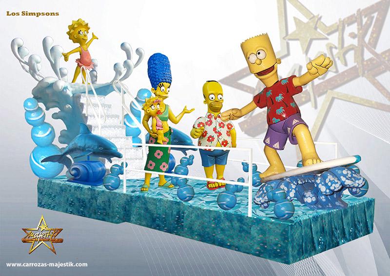 Carroza Los Simpson