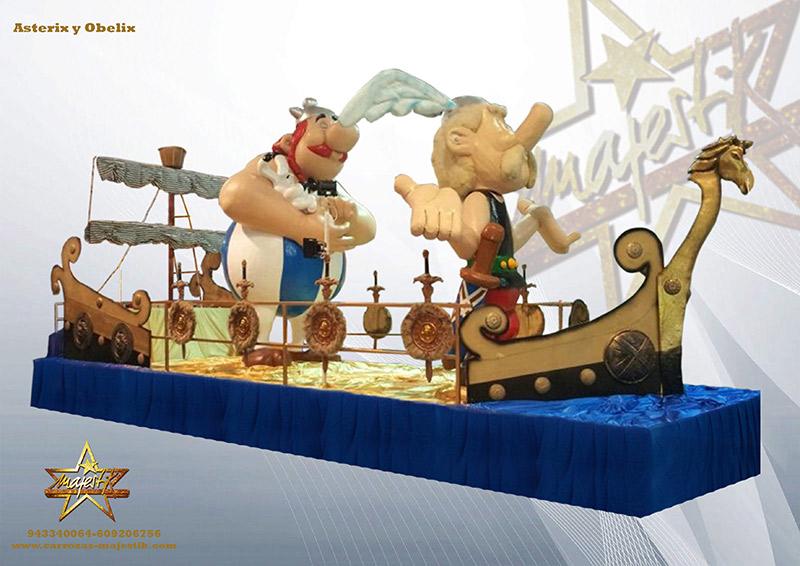Carroza Asterix y Obelix