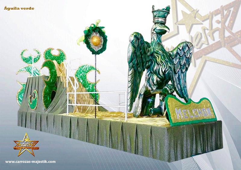 Carroza águila verde