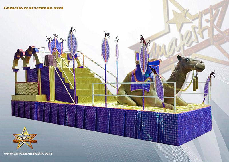 carroza camello real sentado azul